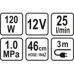 Komresorius automobilinis | 12V / 120W (82105)