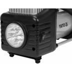 Automobilinis kompresorius | 2 cilindrai | Led lempa | 12V / 250W (YT-73462)