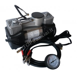 Oro kompresorius 2x30mm cilindrai, guminė žarna 12V (BST1023)