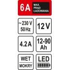 Pakrovėjas akumuliatoriams 6A / 12V / 90 Ah | LED (82542)
