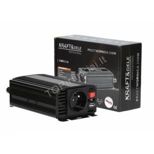 Automobilinis įtampos keitiklis 350/700W 12V (KD1250)