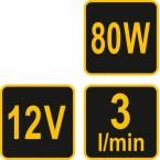 Elektrinė pompa tepalui/dyzelinui/mazutui ir kt. | 3 l / min | 12V (78007)