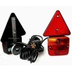 Priekabos lempos su trikampiais atšvaitais   magnetinės   su kištuku   2 vnt. (MTL101C)
