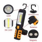 Darbo lempa akumuliatorinė COB LED 3W-240Lm AKU Li-on 2800mAh (SK1510)
