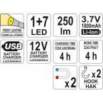 Darbo lempa 3W COB LED (YT-08504)