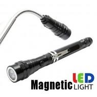 Teleskopinis magnetinis prožektorius su stipriais 3 LED diodais