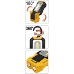 Rankinis rotacinis žibintas COB LED (82724)
