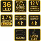 Darbo lempa plokščia Ni-MH 7.2V 600mAh (82720)