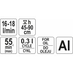 Rankinė pompa kurui iš statinės Yato (YT-0712)