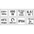 Nuotekų pompa / siurblys tualetui | 600W (75951)