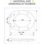 Unitazo dangtis su lėto uždarymo mechanizmu   2-in-1 (75471)