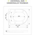 Unitazo dangtis su lėto uždarymo mechanizmu   2-in-1 (75472)