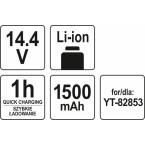 Akumuliatorius LI- ION 14,4V (YT-82858)