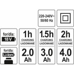 Kroviklis YATO 18V 60 MIN (YT-82848)