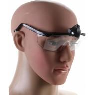 Apsauginiai akiniai su LED apšvietimu | pilki (3631)