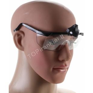 Apsauginiai akiniai su LED apšvietimu   pilki (3631)