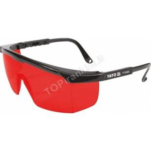 Apsauginiai akiniai   raudoni   darbui su lazeriais (YT-30460)