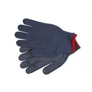 """Pirštinės medvilninės su PVC taškeliais mėlynos 10"""" SWG-PSD (74104)"""