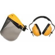 Apsauginis tinklinis skydelis veidui su ausinėmis komplektas (74462)