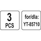 Dulkių maišai siurbliui   70 l   YT-85710 ir kt.   3 vnt. (YT-85730)