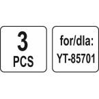 Dulkių maišai siurbliui | 30 l | YT-85701 ir kt. | 3 vnt. (YT-85731)