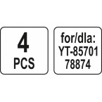 Dulkių maišai siurbliui   30 l   YT-85701 ir kt.   4 vnt. (YT-85732)