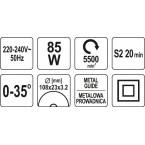 Grandinių galandymo staklės elektrinės (YT-84990)
