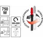 Elektrinis siaurapjūklis 750W (YT-82272)