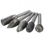 Volframo karbido deimantinių frezų rinkinys 6 mm, 5 vnt (SK8698)