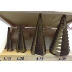 Grąžtai skylės praplatinimui pakopiniai | 4-12, 4-20, 4-32, 4-39mm | 4vnt. (EB-4346)