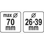 Dulkių ištraukėjas grąžtams ir kaltams | 29 - 36 mm | 70 mm (YT-82982)