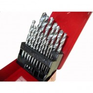 Grąžtų metalui rinkinys 19 dalių, HSS, 1-10 mm (EW-0019B)