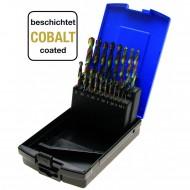 """Grąžtų metalui rinkinys Cobalt, 19 dalių, HSS, 1-10 mm, """"Bgs-technic"""""""