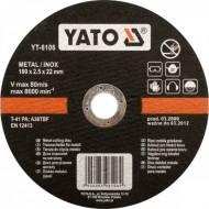 Nerūdyjančio plieno pjovimo diskas 125x1,2x22 mm (YT-6103)