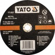 "Pjovimo diskas metalo pjaustymui 230x2,0x22 mm ""Yato"" (YT-5927)"