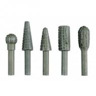 Rinkinys bor-frezų 5 vnt. 6 mm metalinės 25450