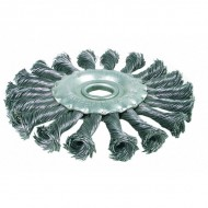 """Šepetys disko tipo, stambus plienas, 115 mm, 22,2mm skylė, """"Bgs-technic"""" (3985)"""