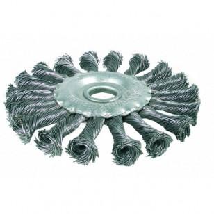 Šepetys disko tipo, stambus plienas, 115 mm, 22,2mm skylė, Bgs-technic (3985)