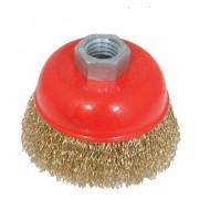 Šepetys šlifavimo kūginis žalvarinis su varžtu 125 mm 112795