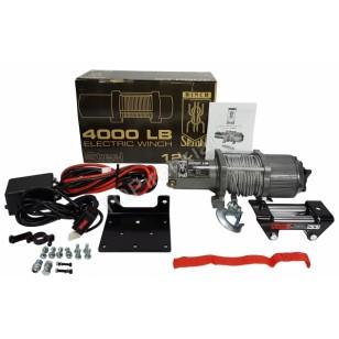 Traukimo gervė 4000 LBS, 1814KG, 12V /plieninis lynas/ (M80801)