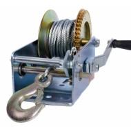 Rankinė traukimo gervė 1850 kg dviejų greičių su plieniniu kabeliu 10 m