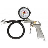 Pistoletas padangoms su manometru 2.8-10 Bar