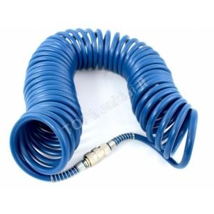 Pneumatinė žarna spiralinė | PE / su antgaliais | 8x12 mm | 10 m (PE10M)