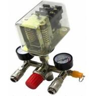 Reguliatorius kompresoriui su slėgio jungikliu ir manometrais   380V (SK10679B)