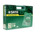 1/4 + 1/2 Galvučių ir raktų rinkinys SATA 76vnt.