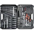 Galvučių ir raktų komplektas 150 vnt., terkšliniai raktai (YT-38811)