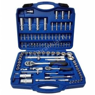 Įrankių rinkinys | Cr-V | 6.3 mm (1/4) + 12.5 mm (1/2) | 94 vnt. (BT50094)