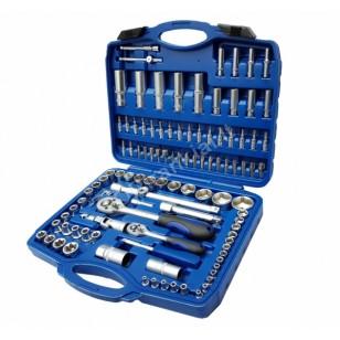 Įrankių rinkinys | Cr-V | 6.3 mm (1/4) + 12.5 mm (1/2) | 108 vnt. (BT50108)