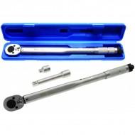 """Dinamometrinis raktas 1/2"""", 28-210 Nm, su ilgintuvu ir adapteriu į 3/8 """"Bgs-technic"""" (98)"""