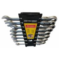 Terkšlinių raktų rinkinys vartoma galvute CR-V, 8-19 mm. 8 vnt. (SK5001)